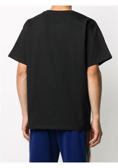 black cotton crewneck t.shirt with Original Gucci printed logo GUCCI |  | 616036-XJCOQ1082