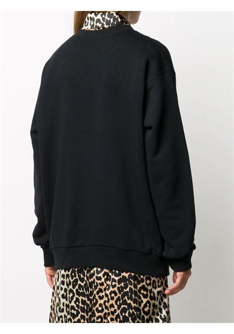 black cotton sweatshirt with gold and silvet tone Origianl Gucci printed logo GUCCI |  | 617964-XJCR11082