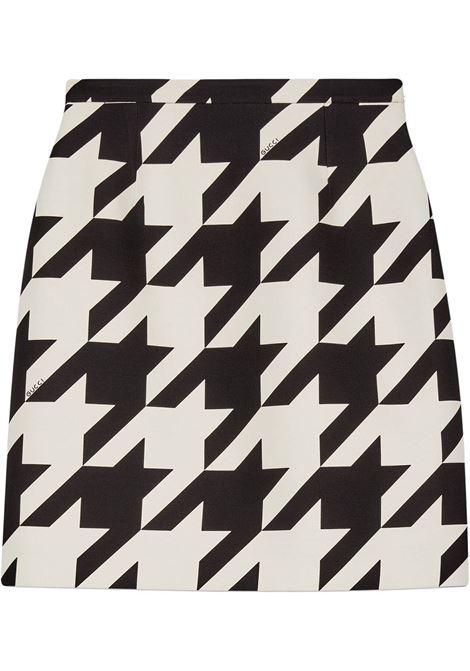 houndstooth wool and silk high waist mini-skirt GUCCI |  | 619479-ZAEXB1036