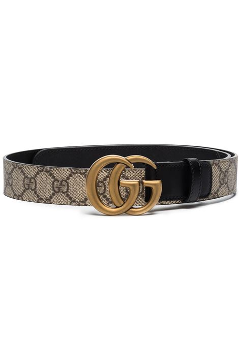 beige leather GG Supreme canvas 3cm belt  GUCCI |  | 625839-92TLT9769
