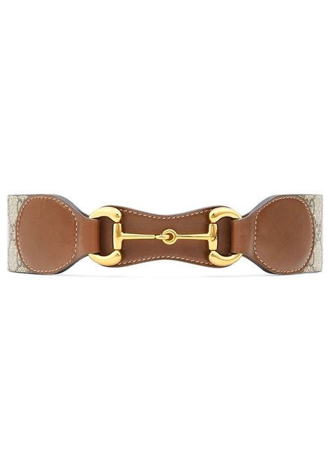Beige leather, canvas and metal Horsebit 4cm belt   GUCCI |  | 625854-1NSBG2360