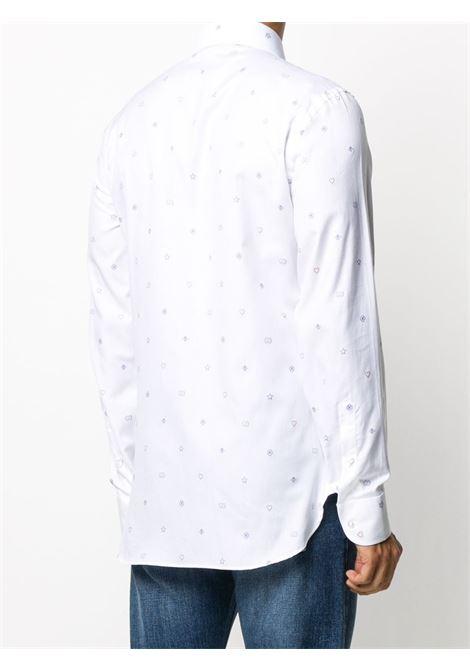 white oxford model cotton shirt with Gucci muli-logo embroidery GUCCI |  | 625883-ZAEDI9002