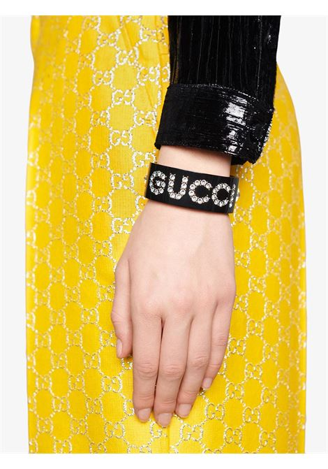 Black resin crystal detailed cuff bracelet with Gucci crystal logo GUCCI |  | 627956-I12GO8520