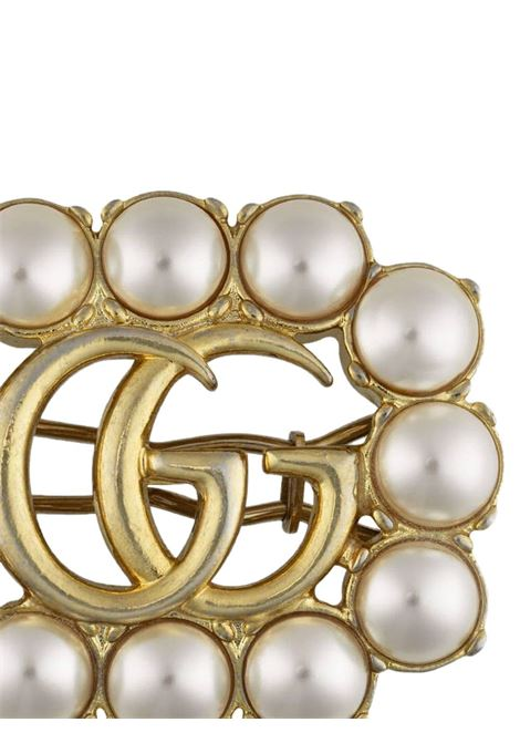 Gold-tone metal and pearl double G hair slide  GUCCI |  | 629611-I52588490
