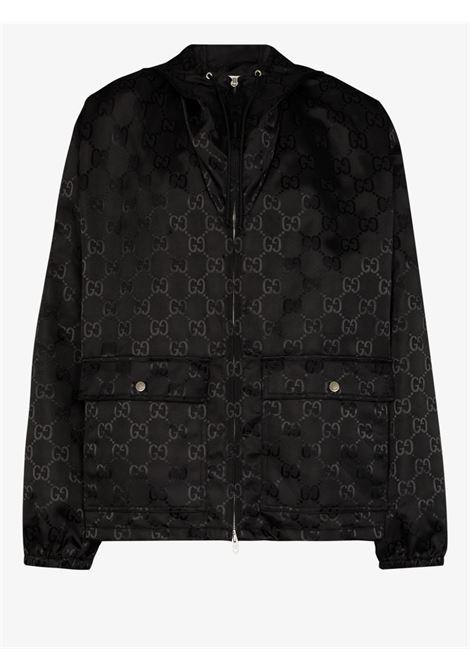Giacca nera in Econyl della collezione Gucci Off the Grid con stampa all over GG Supreme GUCCI | Giubbini | 631105-ZAEBN1000
