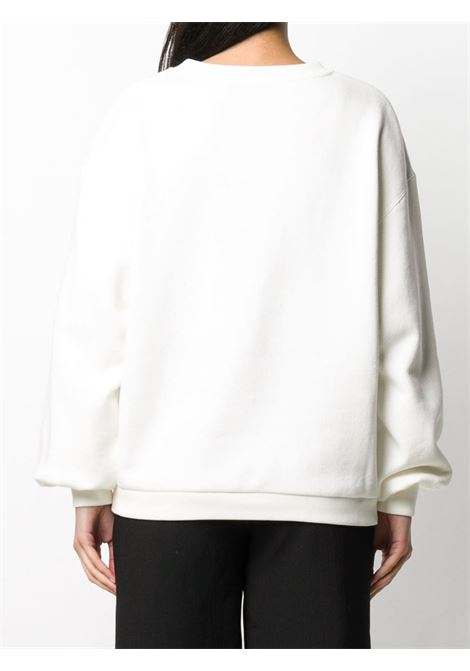 felpa in cotone bianco con logo Gucci Cherry GUCCI | Felpe | 631695-XJCRT9095