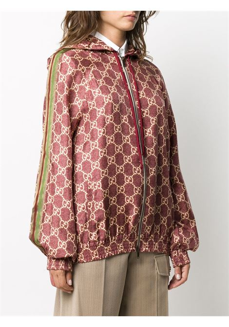 rose and silk cotton jacket with zip front closing and Gucci print  GUCCI |  | 631880-XJCL55281