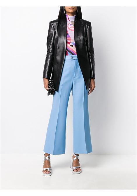 sky blue mid-rise silk and wool tailored trousers GUCCI |  | 632257-ZAD884312