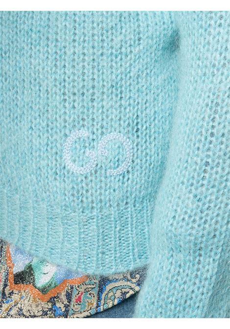 Maglione in feltro di lana mohaih celeste GUCCI   Maglieria   634572-XKBJ14465