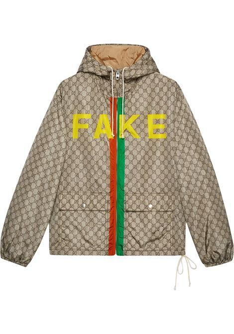 Beige nylon Fake/Not yellow nylon jacket featuring GG Supreme canvas print GUCCI |  | 636391-ZAFKX7249