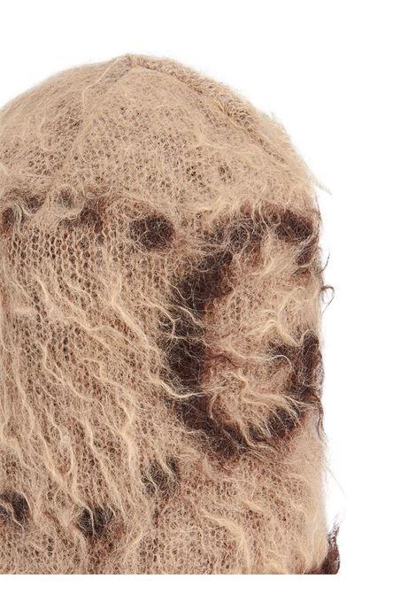 Beige mohair-wool blend knitted beanie  GUCCI |  | 638679-3GF969764