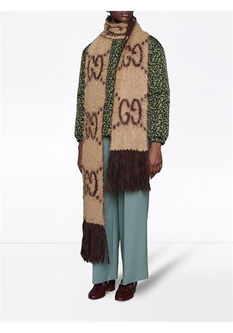 beige mohair-blend 20x230 scarf featuring full Gucci Monogram jacquard print GUCCI |  | 638680-3GF969764