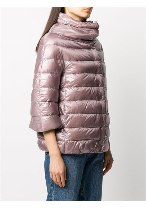 Pink feather down and cotton-blend three-quarter sleeve puffer  HERNO |  | PI0043DIC-120174645
