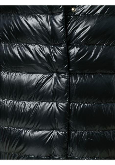 Piumino con maniche a 3/4 in misto cotone e piuma nera HERNO | Piumini | PI0043DIC-120179300