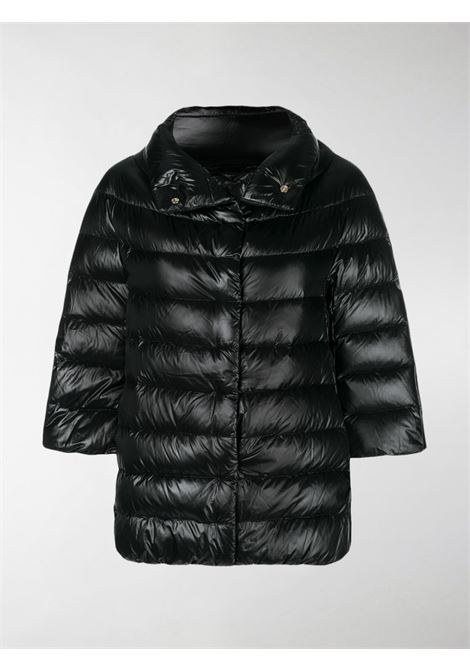 Black cotton and feather down-blend 3/4 sleeve puffer jacket HERNO |  | PI0043DIC-120179300