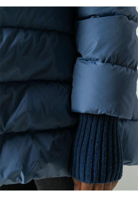 Cappotto imbottito blu fiordaliso con cappuccio staccabile HERNO | Piumini | PI0660D-120049075