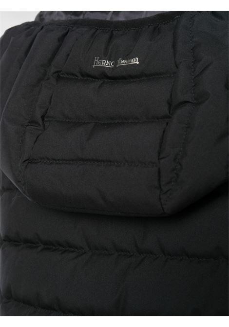 giacca imbottita antivento nera con cappuccio HERNO | Piumini | PI079DL-111069300
