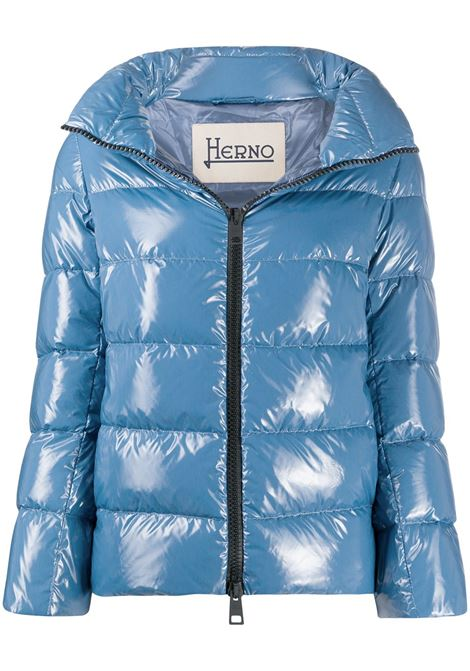 Blue feather down padded zip-front jacket  HERNO |  | PI0837D-122209075