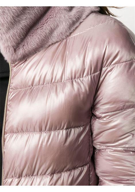 Piumino rosa con pannelli in piuma d'oca con colletto alla coreana HERNO | Piumini | PI1123D-120174645