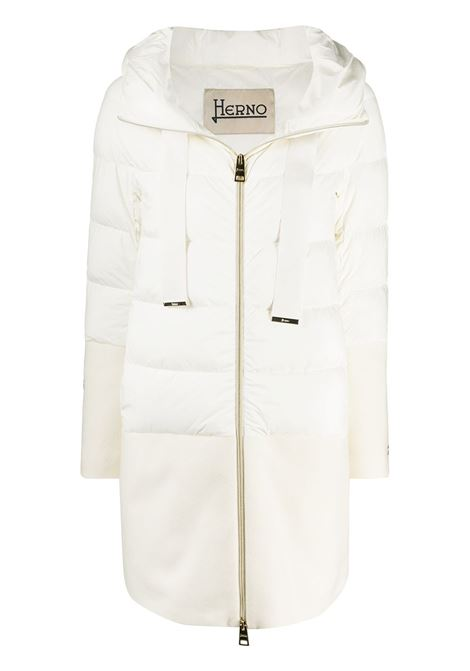 White cotton-blend jacket featuring classic hood HERNO |  | PI1128D-192881000
