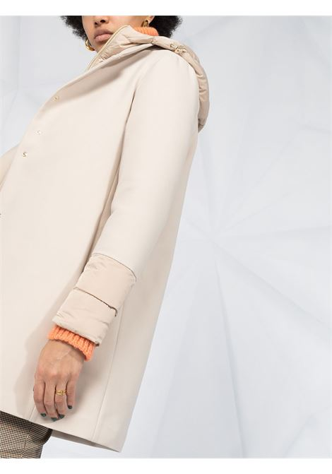 Piumino color chantilly imbottito in piuma d'oca in misto cotone e lana HERNO | Piumini | PI1157D-336001985