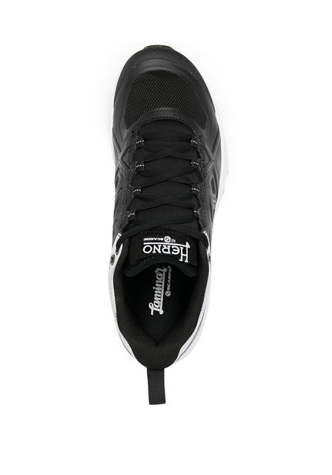 Black gore-tex, leather and rubber low-top sneakers  featuring contrasting panel detail HERNO |  | SH001DL-SHOE9394