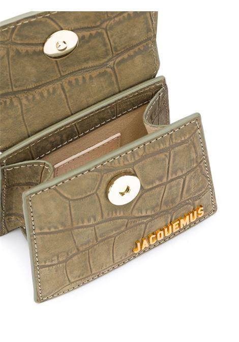 Green cow leather  mini Le Chiquito tote bag  featuring crocodile effect JACQUEMUS      203BA01-301570