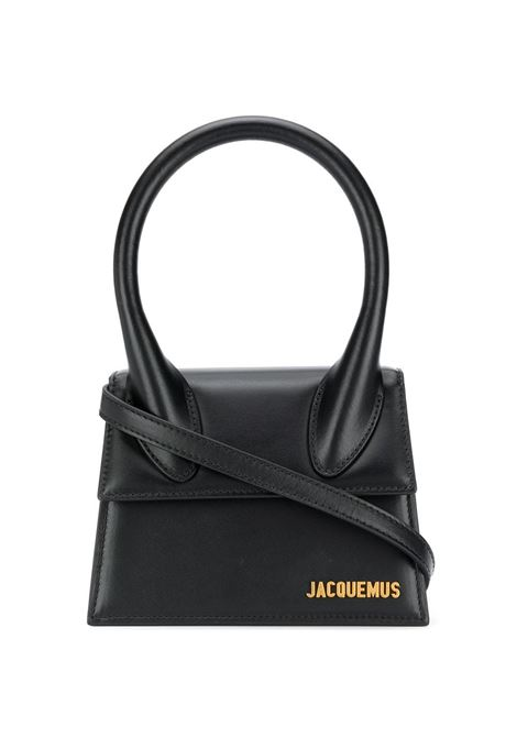 Black cow leather Le grand Chiquito tote bag featuring adjustable detachable shoulder strap JACQUEMUS |  | 203BA03-300990