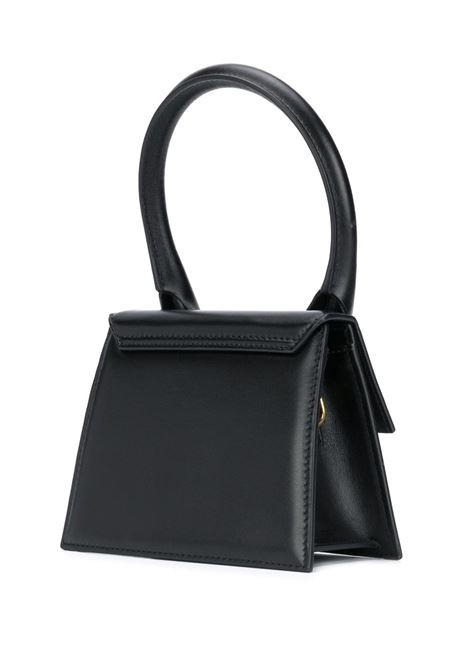 Black cow leather Le grand Chiquito tote bag featuring adjustable detachable shoulder strap JACQUEMUS      203BA03-300990
