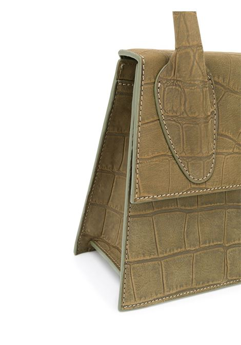 Khaki-green leather Le Chiquito tote bag  featuring embossed crocodile effect JACQUEMUS |  | 203BA03-301570