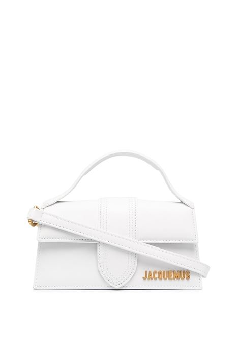 White cow leather Le Chiquito Long tote bag  featuring Jacquemus gold-tone logo lettering JACQUEMUS |  | 203BA06-300100