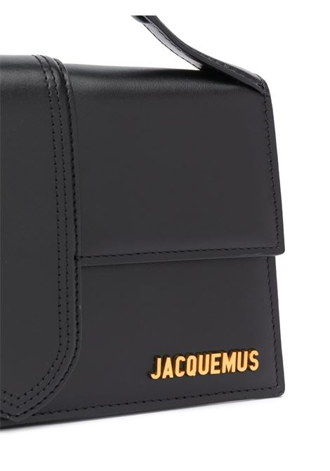 Black leather Le Bambino mini bag  featuring gold-tone Jacquemus logo plaque JACQUEMUS      203BA07-300990