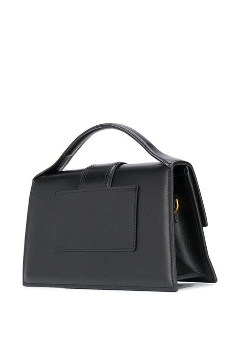 Black leather Le Bambino mini bag  featuring gold-tone Jacquemus logo plaque JACQUEMUS |  | 203BA07-300990
