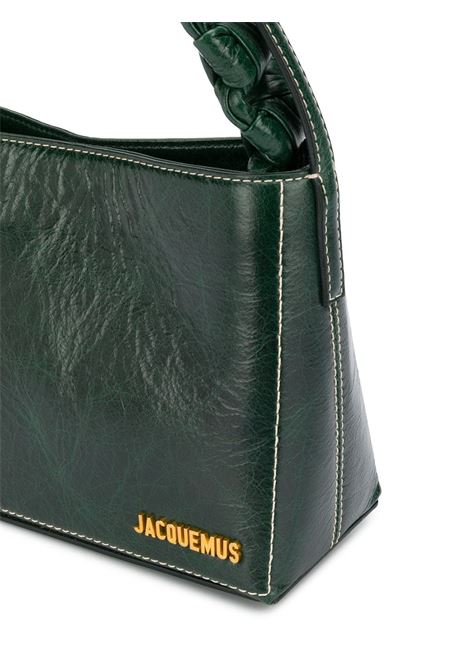 Dark-green cow leather small Le Noeud tote bag featuring Jacquemus gold-tone logo JACQUEMUS |  | 203BA11-310550