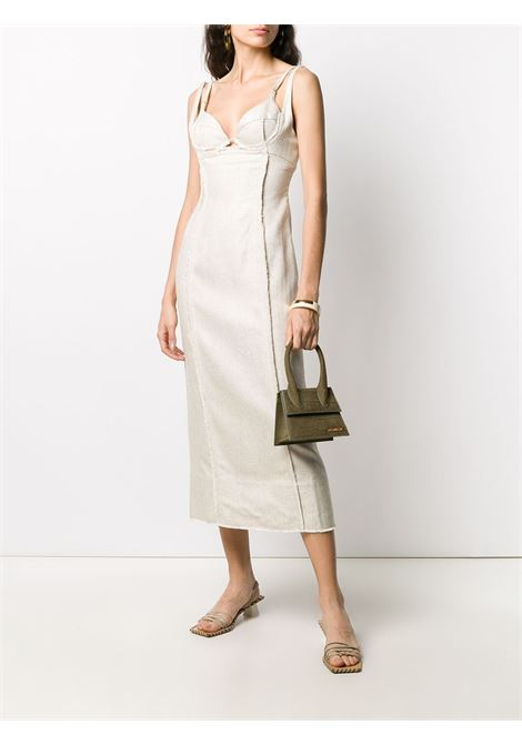 Beige panelled seam-detail dress featuring spaghetti straps JACQUEMUS |  | 203DR06-124140