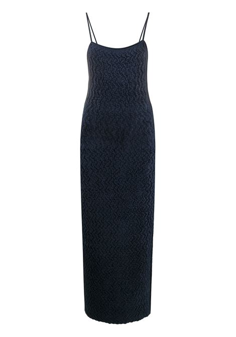 Dark blue velvet spaghetti straps dress featuring  open back JACQUEMUS |  | 203KN17-221380