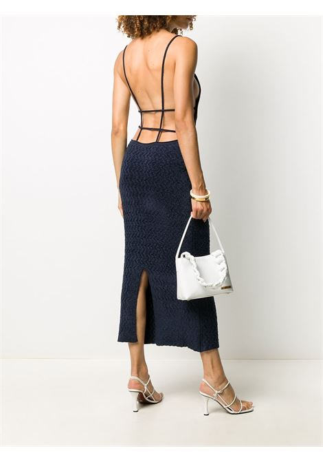 Dark blue velvet spaghetti straps dress featuring  open back JACQUEMUS |  | 203KN17-221380