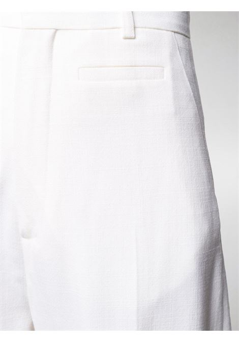 White wool-blend high-waisted wide-leg trousers featuring high waist JACQUEMUS |  | 203PA04-120110