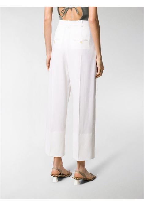 Pantaloni larghi a vita alta in misto lana bianchi JACQUEMUS | Pantaloni | 203PA04-120110