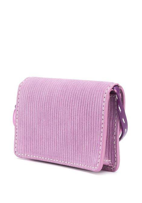 Pink-purple suede Le petit Riviera cardholder bag featuring gold-tone Jacquemus logo JACQUEMUS |  | 203SL04-309440