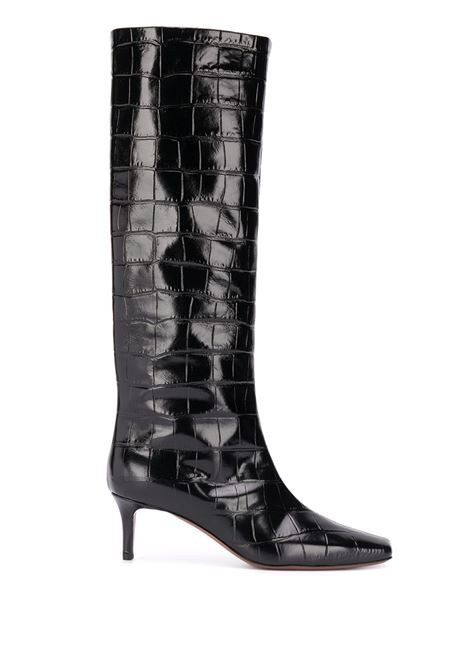Black 100% leather knee-length crocodile effect boots  L'AUTRE CHOSE |  | OSM146.55WP30283028