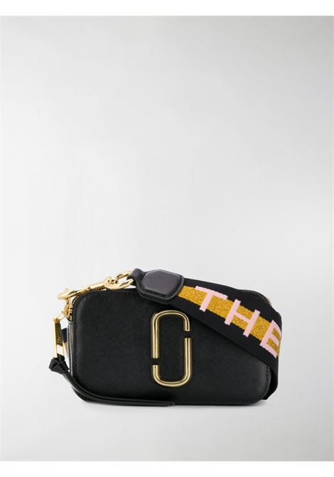 Black and white leather Snapshot two tone crossbody bag featuring adjustable detachable mustard and black shoulder strap MARC JACOBS |  | M0014146003