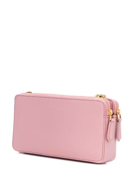 pink cow leather Chain Continental crossbody bag featuring gold-tone Marc Jacobs logo lettering MARC JACOBS |  | M0016537663