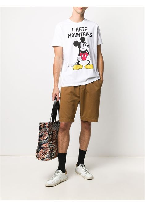 White cotton I Hate Mountains T-shirt from MC2 SAINT BARTH x Disney    MC2 |  | ARNOTT-ANGRY MICKEY01