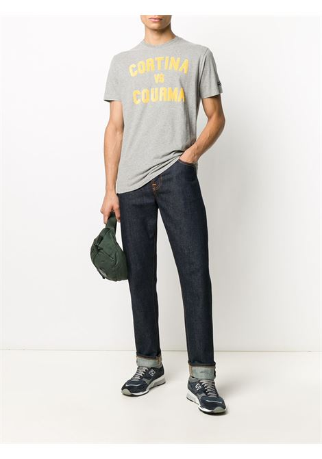Grey cotton Cortina & Courma t-shirt featuring yellow print  MC2 |  | ARNOTT-CORTINA COURMA15M