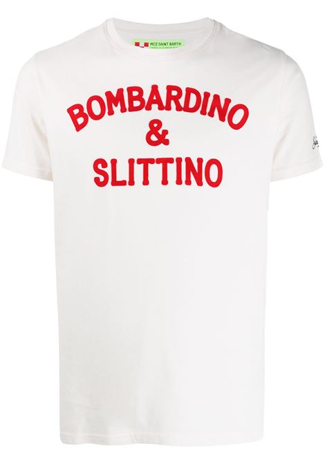 White cotton Bombardino & Slittino white t-shirt  MC2 |  | ARNOTT-SLITTINO11