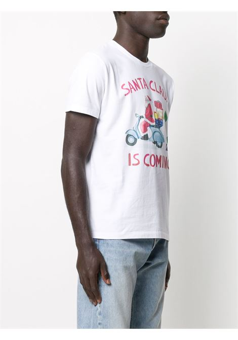 White cotton t-shirt featuring crew neck MC2 |  | ARNOTT-VESPA PRESENTS01