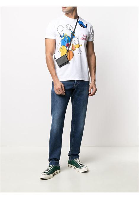 T-shirt in cotone bianco con stampa I Hate Mondays della collezione MC2 x Disney MC2   T-shirt   CONNOR-EMB ANGRY DONALD01