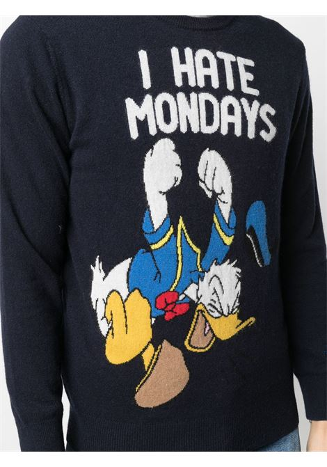 Blue wool and cashmere intarsia knit I hate mondays jumper from MC2 SAINT BARTH x Disney Collection MC2 |  | HERON LIGHT-MONDAY DONALD61
