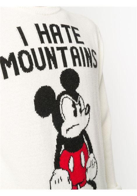Maglione I Hate Mountains in misto lana e cashmere bianco neutro della MC2 x Disney Collection MC2 | Maglieria | HERON-ANGRY MICKEY10